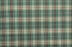 Cotton Plaid Fabric Yardage Green Plaid Green Fabric Plaid www.thefabricscore.etsy.com #sewing #crafts #diy #plaid
