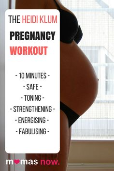 10-minute Heidi Klum Prenatal Workout – Safe & Effective | MamasNow #prenatal #workout #pregnancy