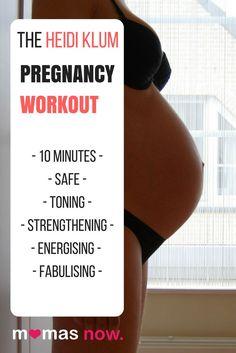 10-minute Heidi Klum Prenatal Workout – Safe & Effective | MamasNow  #prenatal #workout #pregnancy