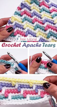 The Apache Tears Stitch. Learn this crochet technique. Crochet Afgans, Crochet Yarn, Crochet Blankets, Easy Crochet, Baby Afghan Crochet Patterns, Crochet Bookmarks, Crochet Projects, Yarn Projects, Crochet Ideas