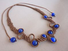 Browse unique items from Knotify on Etsy, a global marketplace of handmade, vintage and creative goods. Macrame Necklace, Macrame Jewelry, Diy Bracelets Easy, Blue Cats, Micro Macrame, Friendship Bracelets, Chokers, Jewels, Handmade Jewelry
