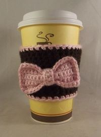Crochet Coffee Cup Cozy...want...mom to make? @Stacey Craver Glass