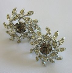 I love these vintage diamond earrings - unique and gorgeous! Inspired by the Michelle Vintage Diamond Engagement Ring from Unique Earrings, Vintage Earrings, Diamond Earrings, Vintage Jewelry, Turtle Love, Vintage Diamond, Smoky Quartz, Jewelry Collection, 1950s