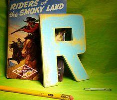 Rustic wooden R