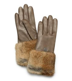 Warm and chic - fur-lined gloves from Tory Burch will make for a popular holiday gift