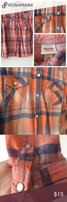Mossimo Flannel Button Down Mossimo flannel button down size L good condition Mossimo Supply Co. Tops Button Down Shirts
