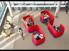 Steelcase's new Brody WorkLounge office pods designed by Markus McKenna block open plan office distractions and help workers focus in comfort.