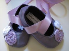 Lavender Baby Shoes Soft Ballerina Slippers by babyblushboutique, $22.00
