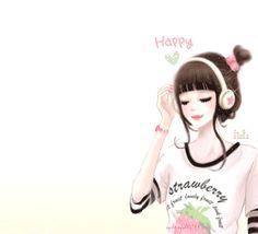 cute anime y Kawaii Girl, Kawaii Anime, Korean Illustration, Arte Fashion, Disney Princess Pictures, Lovely Girl Image, Cute Girl Wallpaper, Glitter Graphics, Creative Pictures