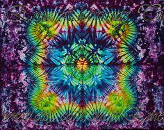Medium Premium Tie Dye Tapestry by Emerald Springs, Spring colors, Purple, Green