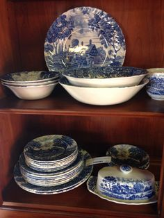 Shakespeares Country vintage ironstone set.  $49. #shakespearescountry