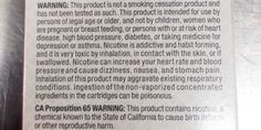 Major E-Cigarette Manufacturers Create Their Own Warning Labels | Stacy on a Budget
