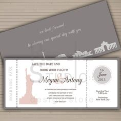 Boarding P Save The Date Card Travel Themed Wedding Printable