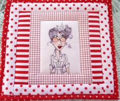 Mug Rug Snack Mat Loralie's Nifty Nurse Hot Mat Insulated Quilted Patchwork | eBay