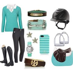 Mint Schooling by alequestrian on Polyvore featuring Poem, H&M, Andrew Marc, Kate Spade and Tory Burch