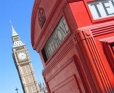 Big Ben and the red phone booth:)
