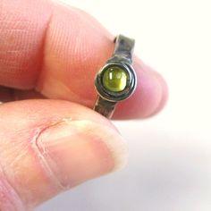 Peridot Fire Toe Gems toe ring with green by wingedwomanart, $32.95