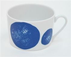 Designed by Elisabeth Dunker for House of Rym, the Spot Me Blue porcelain cup