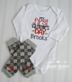 6af8d91f2aa9 Junie Grace WEARABLE KEEPSAKESBaby Boy Coming Home Outfits · Baby Boy First  Valentines Outfit Day Baby Boy 1st Valentines Day Outfit Newborn First ...