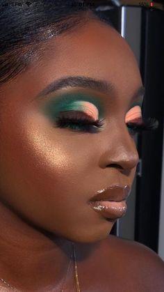 Dope Makeup, Baddie Makeup, Makeup Inspo, Makeup Inspiration, Cute Makeup Looks, Makeup Eye Looks, Pretty Makeup, Black Girl Makeup, Girls Makeup