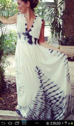 Shibori long dress