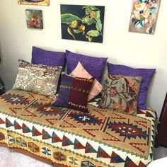 """145 Likes, 2 Comments - @treasurekilims on Instagram: """"Thanks to my lovely kilimrugs my vintage sofabed keeps changing the look…"""""""