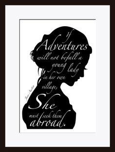Jane Austen Quote Literary Quote Literary by printdesignstudio