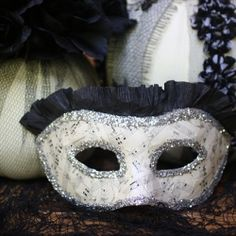 Paper Mache Masks become wearable vintage inspired works of art with a few inexpensive classic craft materials.