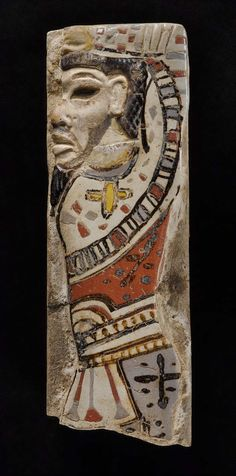 Tile with Hittite chief. Egyptian, New Kingdom, 20th Dynasty, reign of Ramesses II, 1184-1153 B.C.