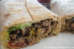 Skinny Kitchen's Cheeseburger Wrap Recipe via Snackgirl 8pts+ Weight Watchers (329 calories)     This is AMAZING...I subbed ground turkey for the beef and bbq sauce for ketchup.  Leftovers I can't wait to eat!