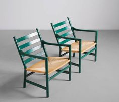 Pair of Two Easy Chairs CH44 by Hans Wegner image 7