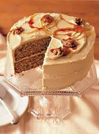 Maple syrup isn't just for pancakes. Designed for those who simply can't get enough of the ever-popular flavoring, Maple-Sugar Frosting is generously doused with this all-American syrup. Try it with our Maple Walnut Cake. Thanksgiving Desserts, Holiday Desserts, Just Desserts, Dessert Recipes, Holiday Pies, Sugar Frosting, Frosting Recipes, Cake Icing, Maple Frosting