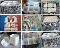 organize home with recycling - Ecosia - recycling containers Recycling Storage, Craft Storage, Plastic Bottle Crafts, Recycle Plastic Bottles, Detergent Bottle Crafts, Milk Jug Crafts, Recycling Containers, Plastic Containers, Diy Organisation