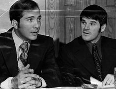 Johnny Bench and Pete Rose