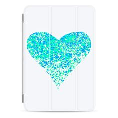 iPad Cover / Case - Mint heart ipad cover ($45) ❤ liked on Polyvore
