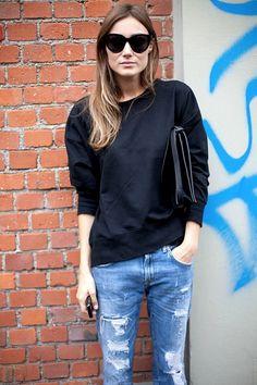 Street Style: Giorgia Tordini | Casual Chic Sweatshirt In Milan