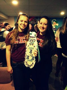 Me, my big, and the paddle I made for her! #TriSigma #BestBigAward