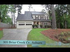 305 Briar Creek Cr , Auburn, AL Fantastic 2 story home w/ new roof, sod & paint in an established neighborhood.Property sits on corner lot & is in immaculate condition. Downstairs features spacious living area w/ stone wood burning fireplace, formal dining rm w/ chair railing & crown molding. Adjacent kitchen is bright w/ tile flooring & tons of wood cabinetry. Breakfast area w/ glass door rear access to lawn..5 bath for guests. Call Ashley Durham, (334) 559-8817. Prestige Properties.