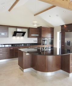 decorations excellent walnut kitchen furniture walnut kitchen cabinet glossy black granite countertop kitchen island double undermount - New Home Kitchen Design Ideas