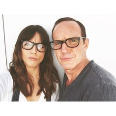 We are intellectuals. || Chloe Bennet, Clark Gregg || Instagram || #cast