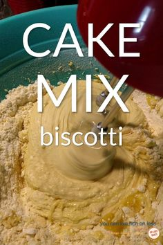 These delicious Italian Almond Biscotti are so easy to make and the cake mix speeds up the process! Add your favorite biscotti ingredients, like cranberries, dip them in chocolate too! We love the classic Cantucci Toscani, right from Italy. Cake Mix Desserts, Cake Mix Recipes, Easy Desserts, Cookie Recipes, Delicious Desserts, Dessert Recipes, Cake Mixes, Biscotti Cookies, Cake Mix Cookies