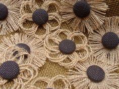 Burlap Flower Assortment - Decorations for Weddings, Showers, Parties, Etc. - Rustic, Outdoor, Eco