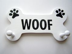 Custom Dog Leash Holder Wooden by SassyFrassStudio on Etsy, $19.99