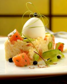 Flavors of Brazil: RECIPE - Risotto of Mandioquinha and Smoked Trout