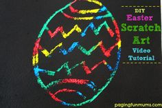 DIY Easter Scratch Art video tutorial!