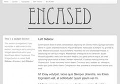 This white version of the Encased theme has two navigation styles. One standard horizontal, and one that stays fixed left over your site.