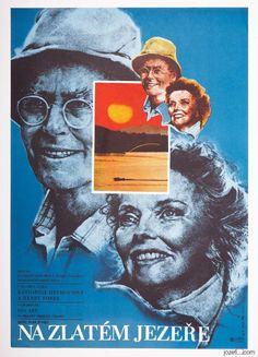Poster Auction / TUESDAY 20.09.2016 / Starting at £0.99  / Vintage Movie Poster ON GOLDEN POND Karel Vaca Art / #poster #Katharine Hepburn #GraphicDesign