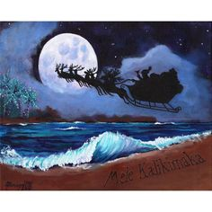 Mele Kalikimaka from the Beach 8x10 print with Hawaiian Santa from... ($26) ❤ liked on Polyvore featuring home, home decor, mini palm tree, white home decor, miniature palm trees, sea home decor and ocean home decor