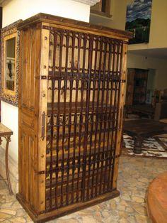 las haciendas iron gates wine rack cabinet
