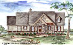 Garrell Associates, Inc.Snow Cap Cottage II House Plan # 09112, Rustic Cottage House Plans, Craftsman Style House Plans, Design by Michael W. Garrell